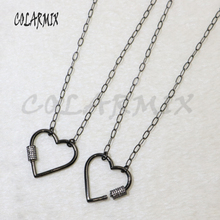 5 strand Heart pendants necklace link chain necklace bolt clasp necklace accessories for women jewels gift for lady 5881