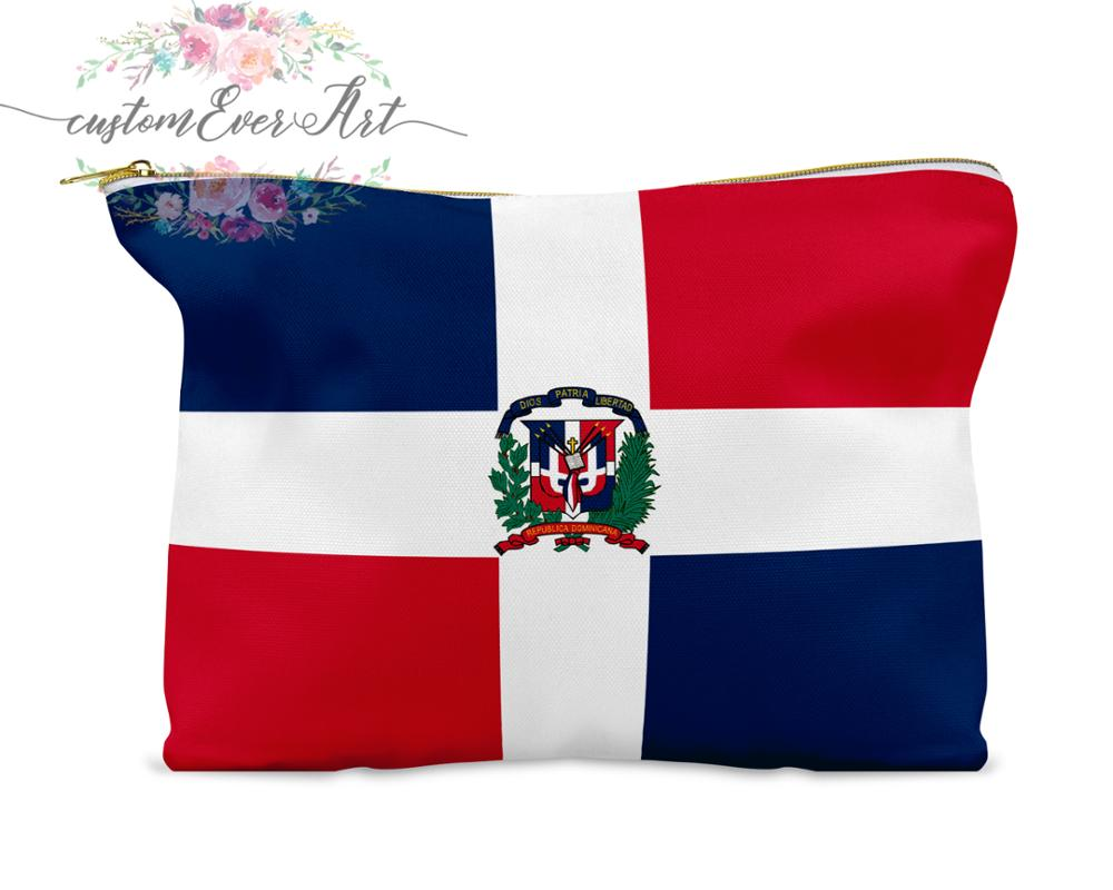 Dominican Republic Cosmetic Bag Personalized Makeup Bag Small Cosmetic Bag Toiletry Bag Zipper Pouch Bridesmaid Gift