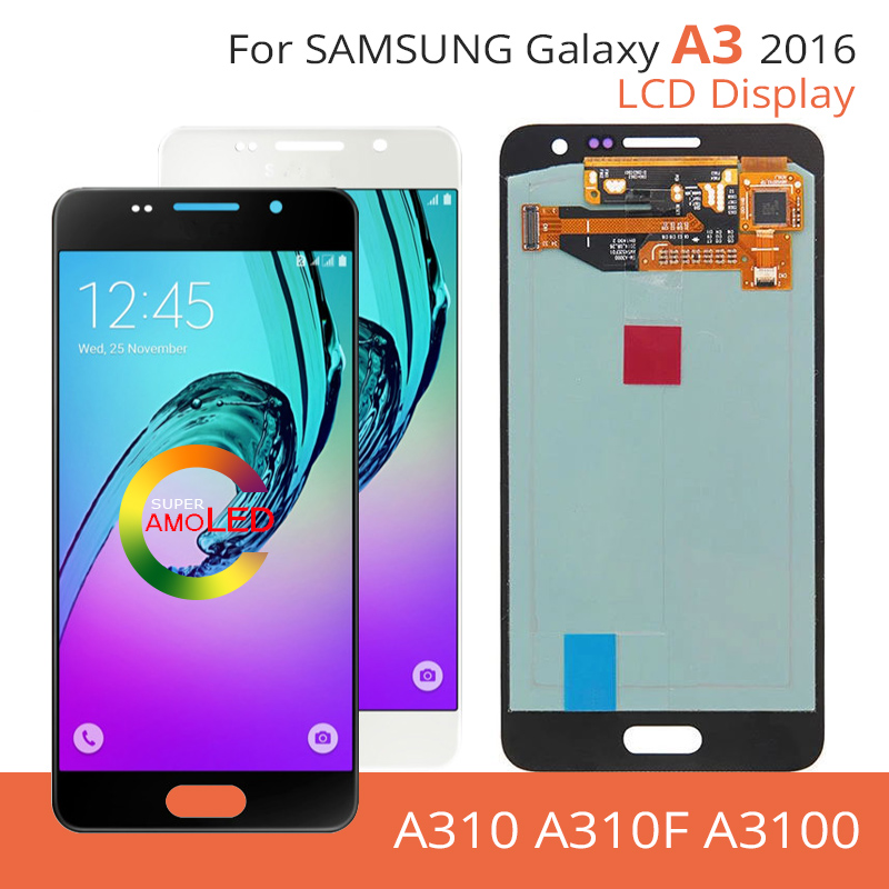 For <font><b>samsung</b></font> galaxy A310 display 2016 A310 SM-<font><b>A310F</b></font> A310M A310H <font><b>A310f</b></font> A3100 <font><b>lcd</b></font> OLED /TFT Original 4.7''Touch Screen Replacement image