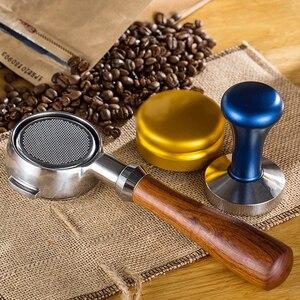 Image 3 - Porte filtre sans fond pour Machine à café en acier inoxydable 51/58MM, poignée de branche, accessoire professionnel