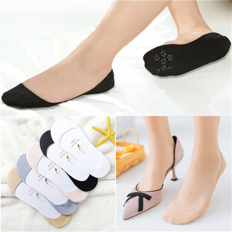 Thin Boat Socks Super Shallow Mouth Invisible Socks Silicone Non-slip High Heel Sweat-absorbent Socks Wholesale