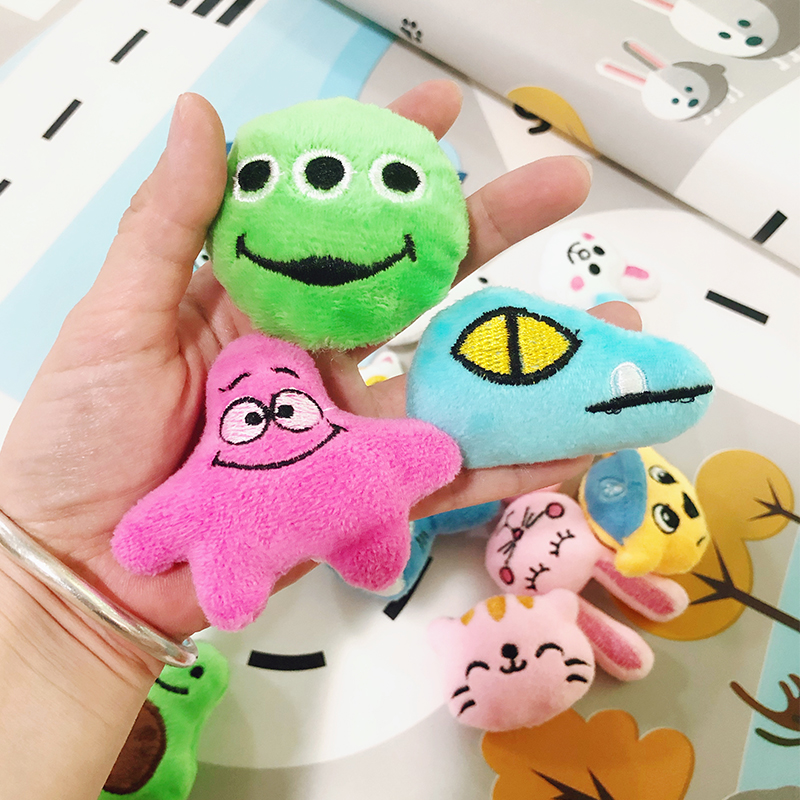 Mini 6 * 4CM Small Soft Stuffed Animal Plush Plush Toy Doll Design Rabbit Bear And Other Multi-model Small Toys Baby Kids Gifts