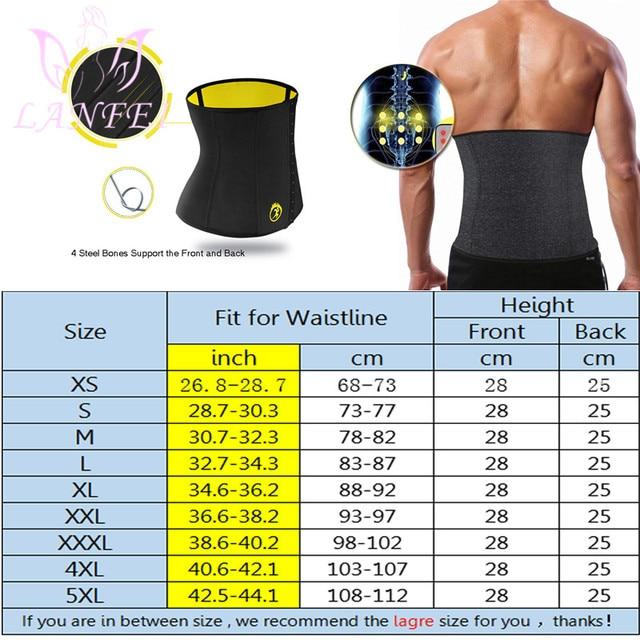LANFEI Hot Neoprene Body Shaper Corset Men Thermo Sweat Waist Trainer Belt Weight Loss Workout Slimming Modeling Strap Vest Faja 5