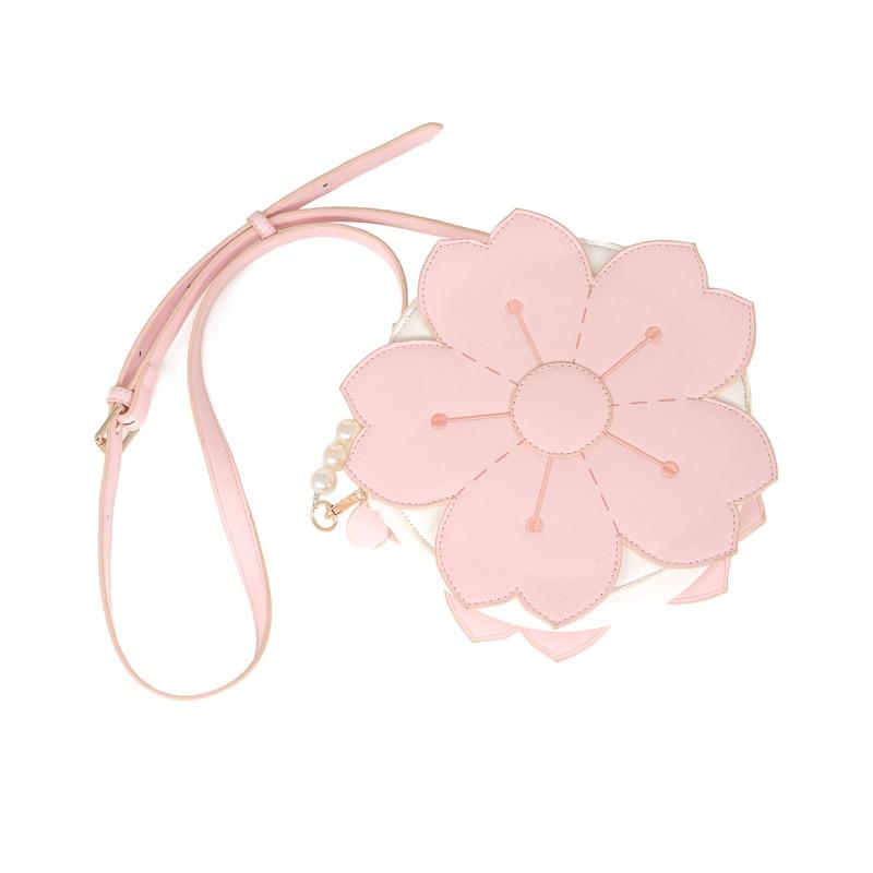 Harajuku Japanese Romantic Sakura Girl Dream Pink Shoulder Bag Kawaii Handbag Soft Girl Lolita Princess Messenger Bags