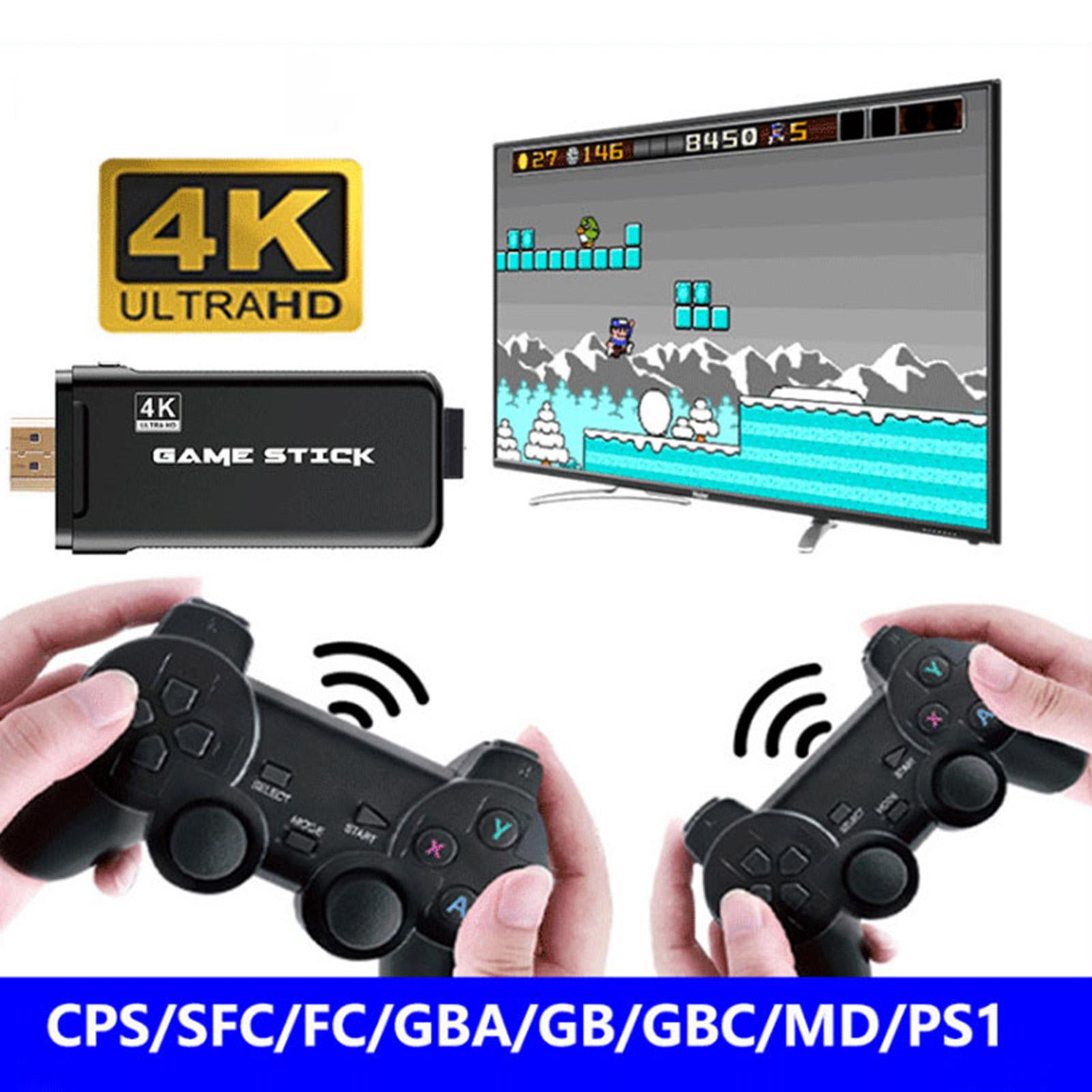 X8 Wireless 32G Large Memory Built in 10000 Games Handheld Micro 4K HD Video Game Console With 2Pcs Gamepads Joysticks For TV