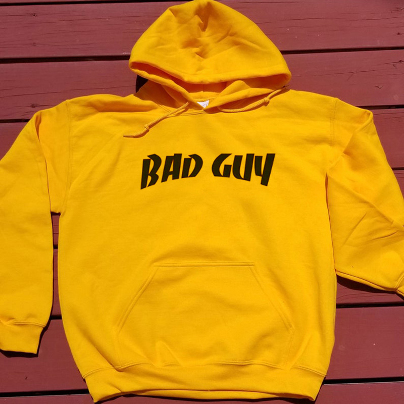 Billie Eilish Bad Guy Hoodie Women Men Letter Printing Long Sleeve Fashion Unisex Hoodies Pullover Hip Hop Streetwear Sudaderas