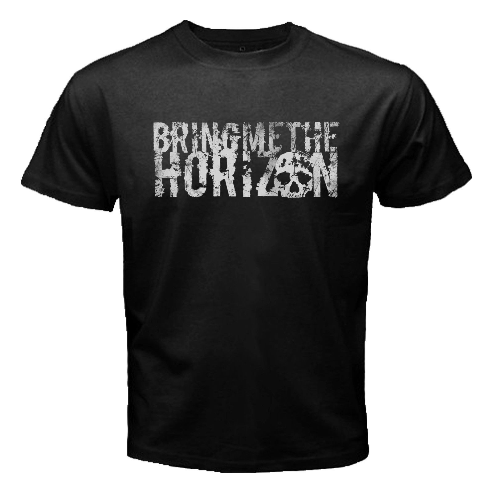 New Bring Me The Horizon British Metalcore Rock Band Men's Black T Shirt O-Neck Oversize Style Tee Shirts Styles image
