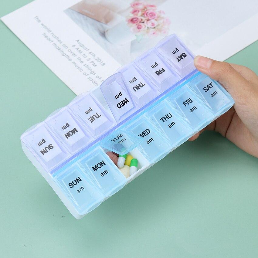7/14 grades 7 dias semanais candy pill caso medicina tablet dispenser transportar caixa de comprimidos splitters suprimentos de armazenamento de comprimidos