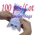 100 шт./лот многоразовый гелевый пакет для льда, охлаждающий пакет высокого качества, свежие холодные охлаждающие пакеты, Полиэтиленовая кор...
