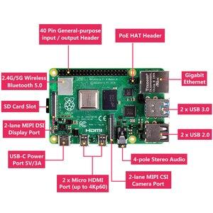 Image 2 - Raspberry Pi 4 Model B zestaw 2G / 4G RAM + aluminiowa obudowa + zasilacz + 32GB/karty SD o pojemności 64GB + Micro kabel HDMI dla Raspberry Pi4