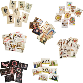 16Pcs/lot vintage Seven different designs postcard collection card gift student stationery
