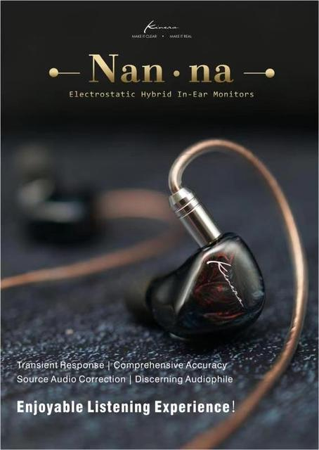 Kinera NAN NA 2 Electrostatic+1DD+1BA In Ear Earphones Earbud HIFI DJ Monitor Earphone Earplug Headset 2