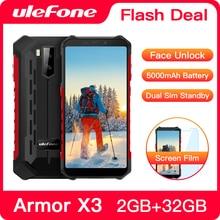 """Ulefone Armor X3 Robuuste Smartphone Android 9.0 IP68 Android 5.5 """"2Gb 32Gb 5000Mah 3G Robuuste mobiele Telefoon Mobiele Telefoon Android"""
