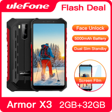 """Ulefone Armor X3 Smartphone robuste Android 9.0 IP68 Android 5.5 """"2GB 32GB 5000mAh 3G téléphone portable robuste téléphone portable Android"""