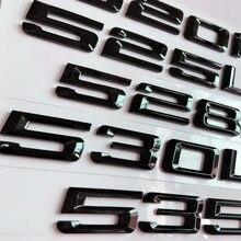 Nouveau Noir Brillant 525i 530i 535i 540i 550i 530d 530e Coffre Arrière Emblèmes Lettre Insignes Pour BMW Série 5 F10 F11 E12 E39 E60 E61 G30