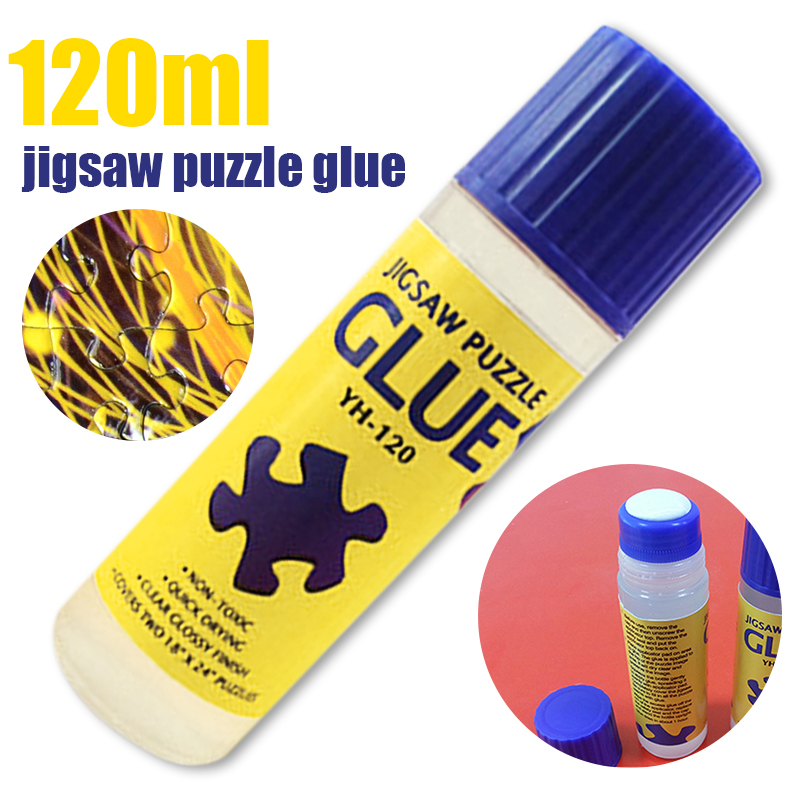 120ml Non-Toxic Eco-friendly Glue Jigsaw Puzzles Conserver Self Apply Fast Dry For DIY Sticking Paper Preserving Jigsaw Puzzles