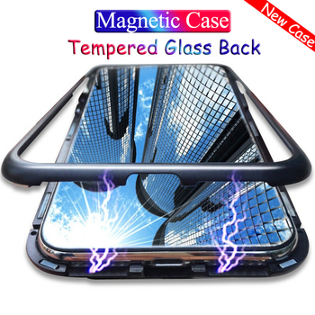 Magnetic Adsorption Metal Case For Xiaomi Redmi Note 9S K30 8 7 5 6 K20 Pro 8T 8A 7 7A Pocophone F1 Tempered Glass Magnet Fundas