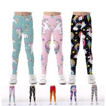 Kids Pants Unicorn Legging Girls Trousers Leggings for Girls Legging Elasticity Breathable Soft Print Baby Boy Girls Pants