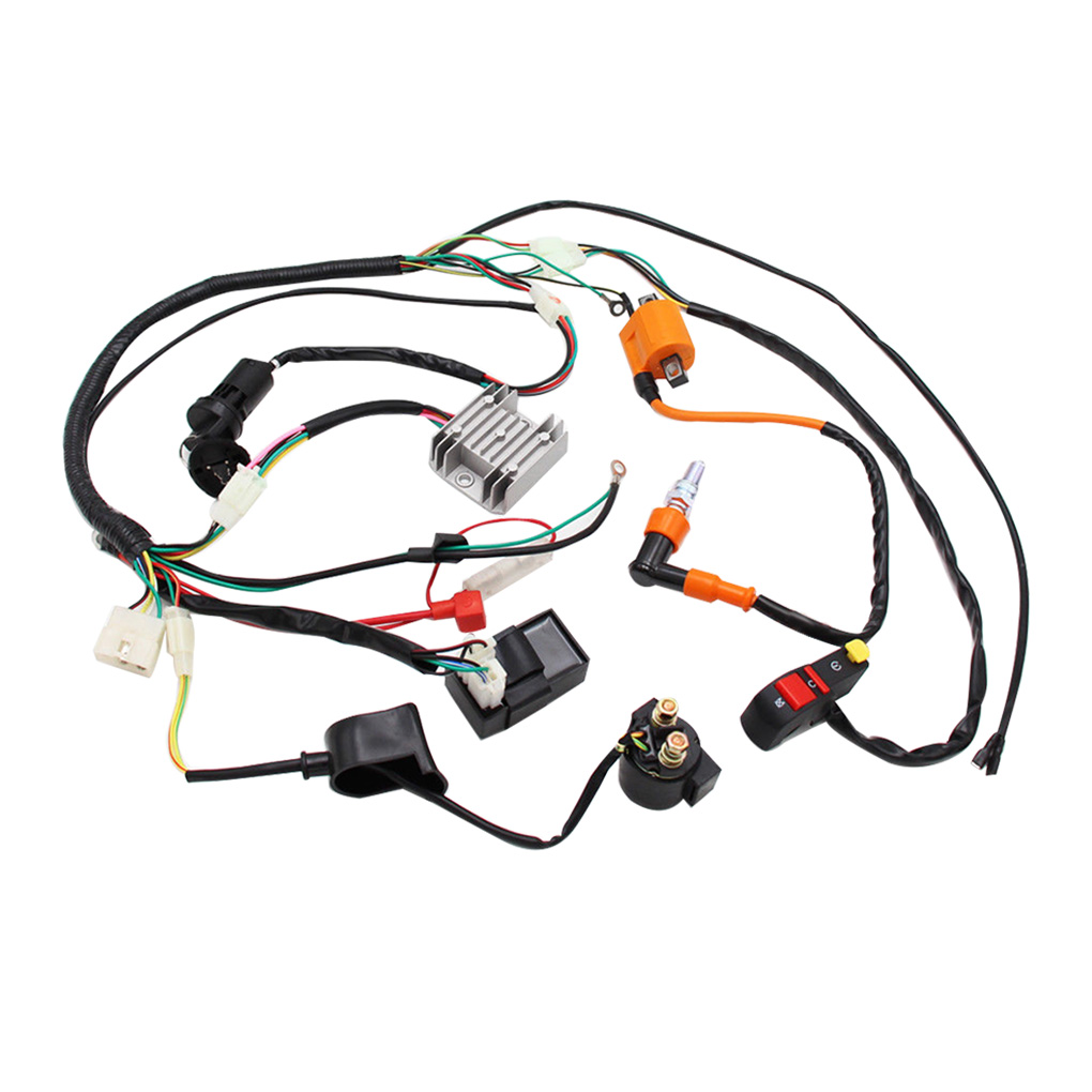 Replacement for ATV QUAD 150/200/250/300CC High quality Complete Electrics Wiring Harness Loom CDI Coil