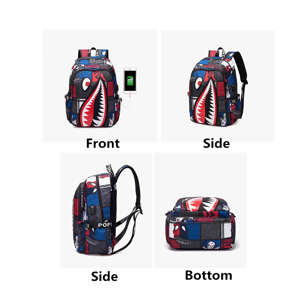 New Shark printing School Bags Children Backpack for teen Boys Girls leisure Travel Bagpack Women Backpacks mochilas escolar