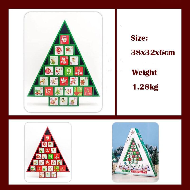 Новые рождественские украшения 2019 деревянный Рождественский обратный отсчет Календарь украшения для рождественской ёлки подарочные коробки украшения для дома - 2