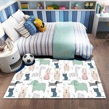 KC Crystal Velvet 3D Printed Children's  Crawling Cartoon Carpet Household Cartoon Carpet  Rug for Living Room  Rugs for Bedroom
