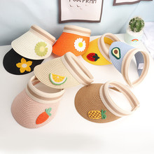 Summer Baby Empty Head Cap Fruit Cut Straw Hat Accessories for 3-8 Years Girl Boy Children Outdoor Sunblock Fisherman Hat