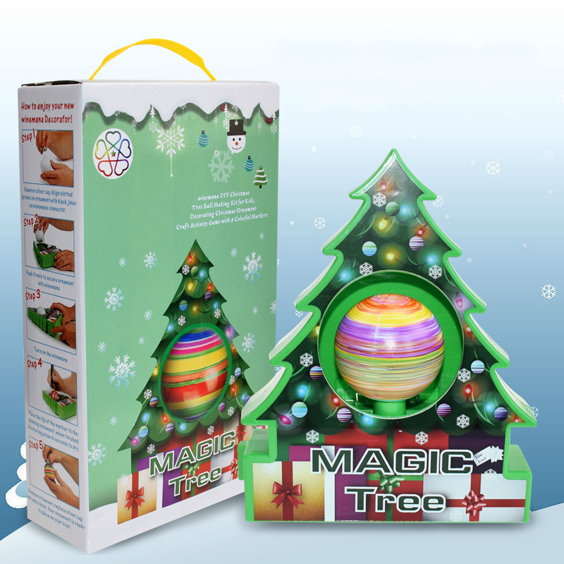 DIY Kids Drawing Toys Christmas Tree Decoration Balls Educational Craft Toy Set Home Decor Ornaments Egg Children Gifts-in Craft Toys from Toys & Hobbies
