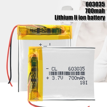3.7V 700mAh 603035 Lithium Polymer Li-Po li ion Rechargeable Battery For mp3 mp4 mp5 Tachograph Car DVR Bluetooth Earphone GPS image