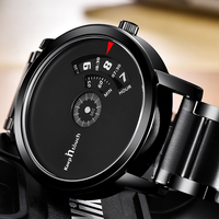 KEEP IN TOUCH Creative Mens Watches Top Brand Luxury Watch Quartz Men Black Casual Clock Male Reloj Hombre New Relogio Masculino