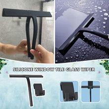Silicone janela telha limpador de vidro limpador rodo chuveiro espelho suportes limpeza titular preto cinza transporte da gota