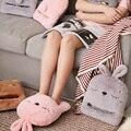 Электрическая грелка с USB  теплые тапочки для ног с кроликом  теплые тапочки для ног  зимняя грелка для рук  обогреватель для дивана  стула  со...