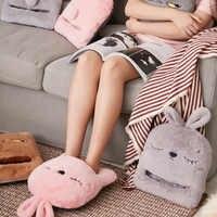 USB Elektrische Heizung Pad Kaninchen warme fuß pad Füße Warm Hausschuhe Winter Hand Wärmer Sofa Stuhl Heizung Erwärmung Kissen Hause