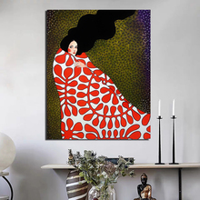 Nordic Poster Wrapped In Quilt Girl Canvas Painting Living Room Home Decoration Modern Wall Art Oil Painting Posters Pictures HD цена