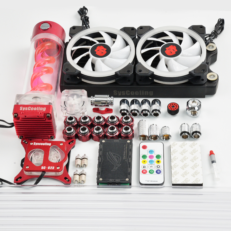 Syscooling hard tube water cooling kit for PC CPU water cooling system with RGB suport CPU liquid cooling|cooling kit|cpu cooler|intel cpu cooler - title=