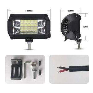 Image 5 - Nlpearl 5 אינץ 72W אור בר/עבודת אור ספוט & מבול קרן LED עבודה אור ערפל מנורת עבור מכביש משאית סירת טרקטורונים LED אור בר 12V