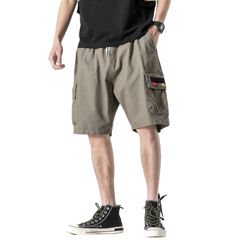 JAPAN 2020 Summer Men Cargo Shorts Casual Multi Pocket Short Pants Hip Hop Streetwear Punk ROCK Trouers