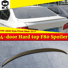 For BMW F80 M3 Sedan Trunk spoiler wing FRP Unpainted M Performance 3 Series 320i 328i 335i 326D Rear Diffuser wings 2012-2017