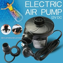110-120V AC Portable Electric Air Pump for Inflatables, Air Bed Raft Pool Boat Toy Exercise Beach Yoga Ball, 3 Pump Nozzles