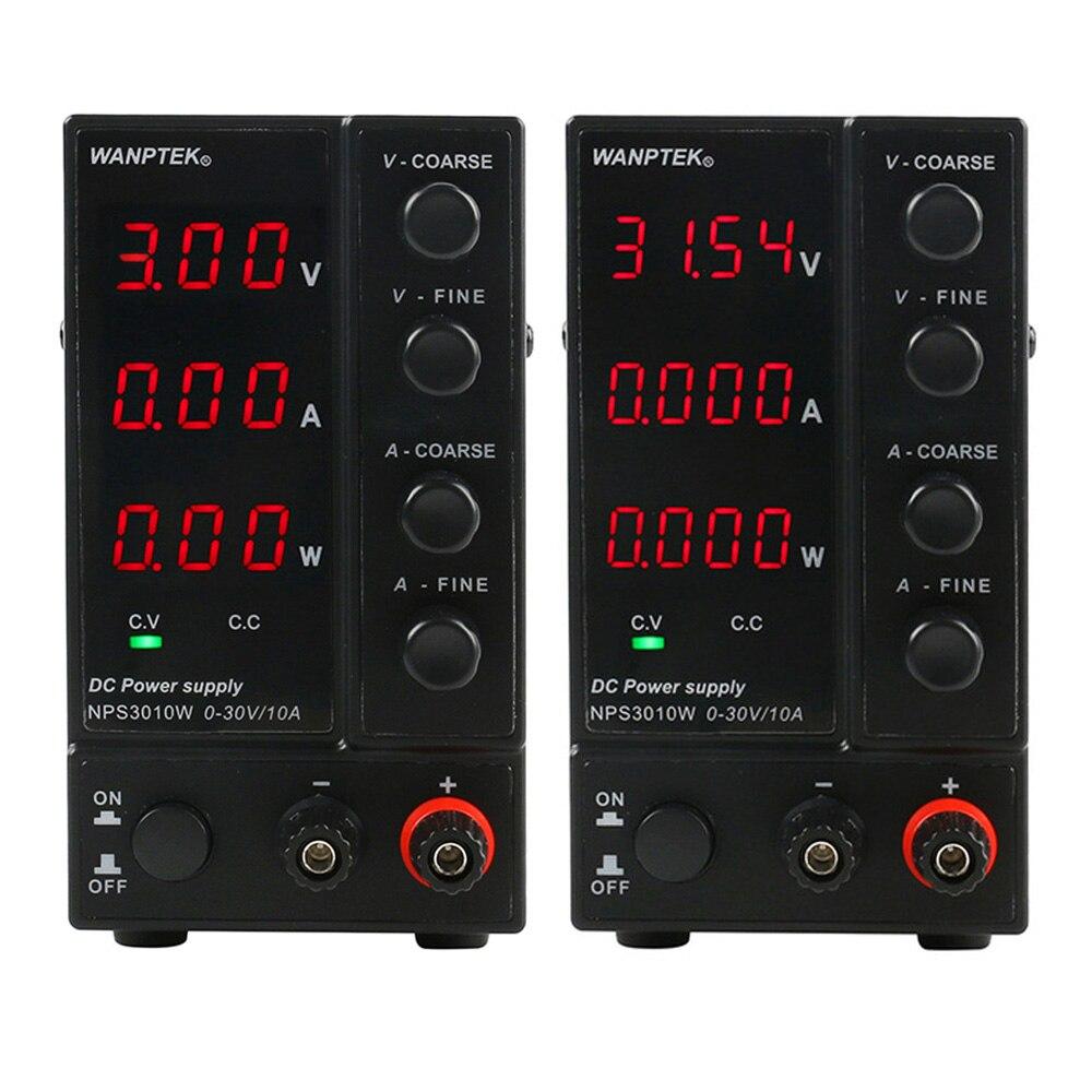 NPS3010W 30V10A trois affichage/quatre affichage réglable alimentation cc laboratoire Mini tension de commutation régulée puissance d'essai