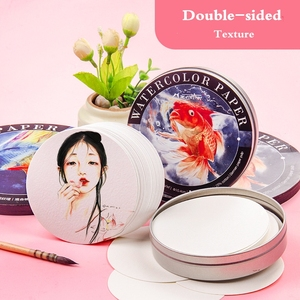 Image 4 - Mixed cotton Professional Round Watercolor Paper Pad Aquarelle Book Watercolour Painting Paper Hand Paint Office School Supplies