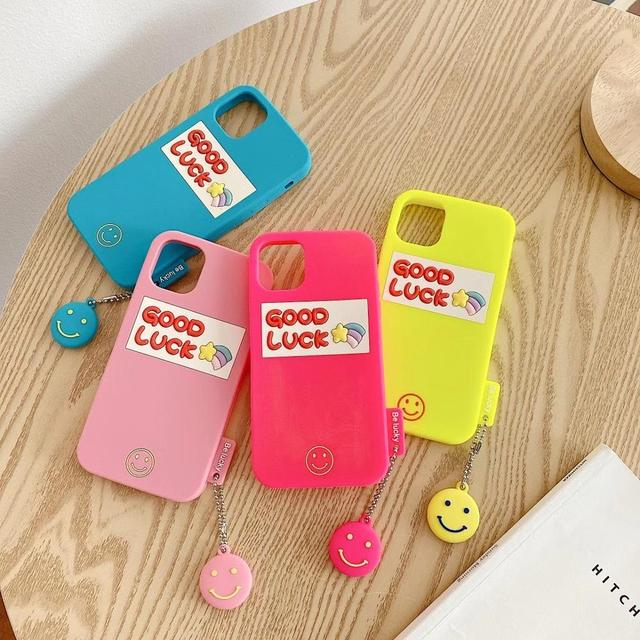Silicone Smooth Good Luck meteor With Smiling Face Phone Case For iphone6 7 8Plus XR XSMAX 11Pro Buy One Get Corresponding Ring 1