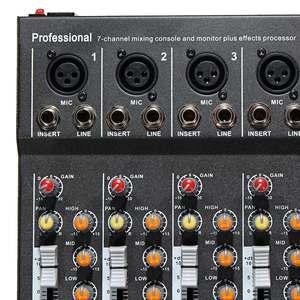 Image 3 - מקצועי 7 ערוץ USB אודיו מיקסר מיקרופון קול ערבוב קונסולת KTV מגבר מיקסר עם USB 48V פנטום כוח