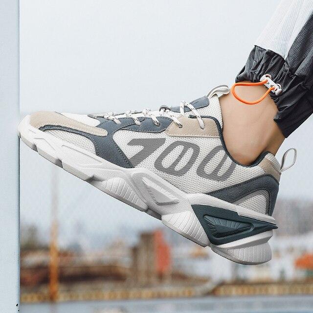 QGK-Zapatillas deportivas de malla transpirable para hombre, Tenis masculinos para correr, informales, para exteriores, Primavera/Verano, 700 4