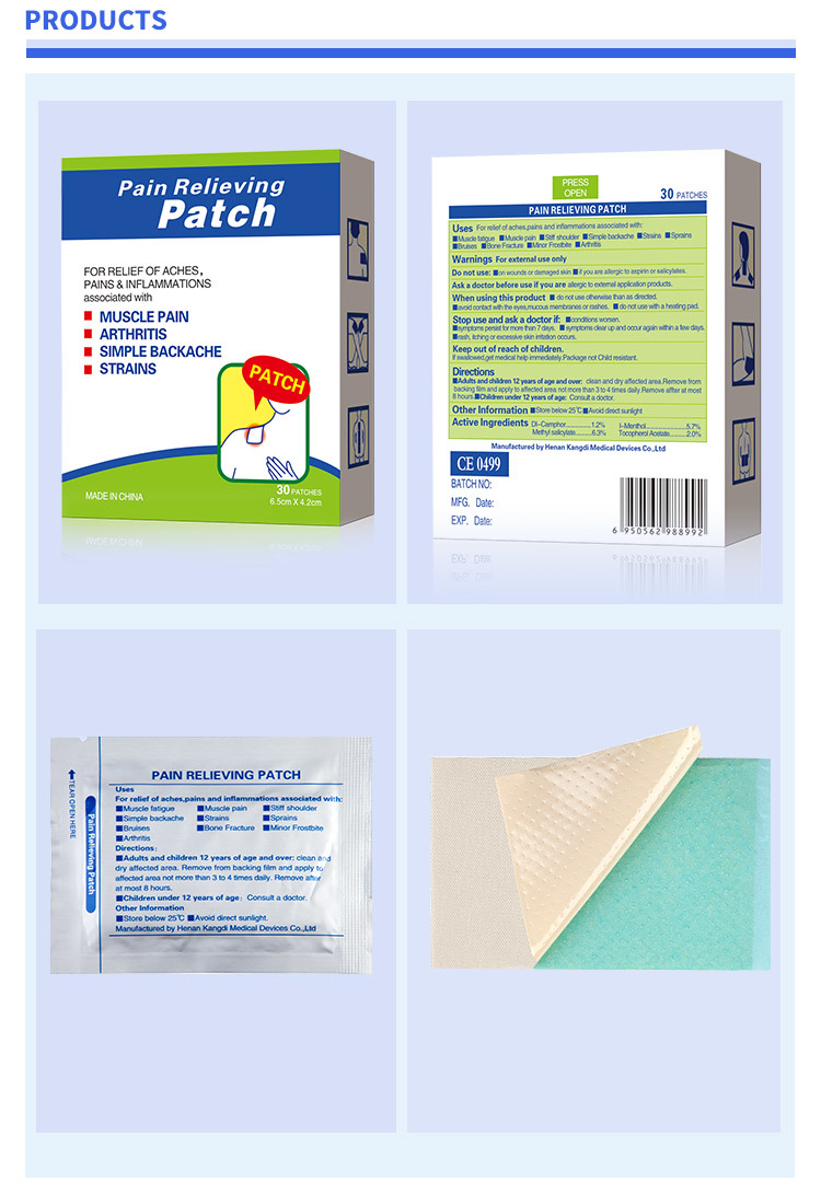 muscle pain patch