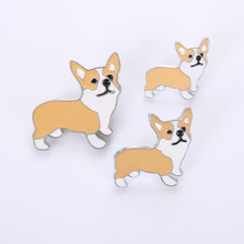 Jewelry Brooches Badge-Corgi-Brooch Chow-Pins Gift Animal Best Friend's Large Women Cute