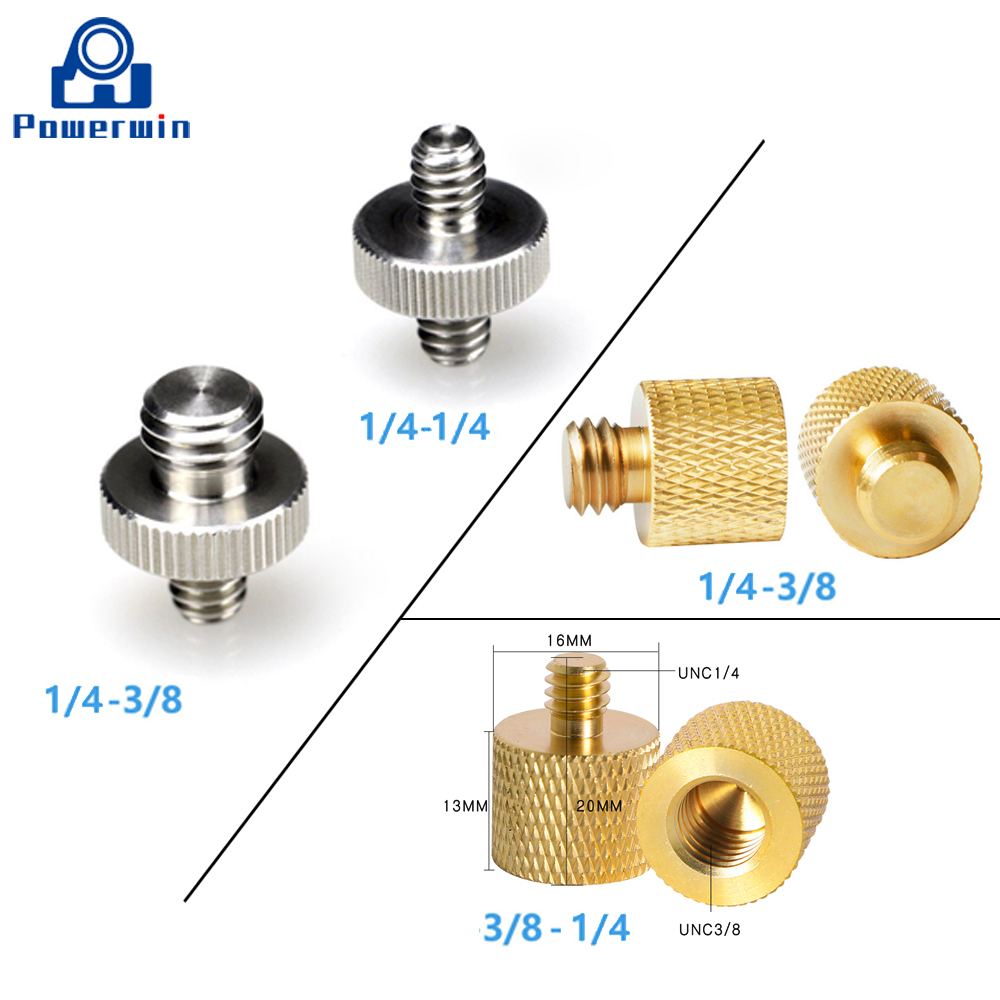 4pcs Stainless Steel UNC1//4 D Ring Screw for Tripod Monopod Quick Release Plate