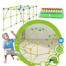 Kit De Construction De château, tunnel, Tentes, Bricolage 3d, jeu De Construction De Maison, Jouets Pour enfants