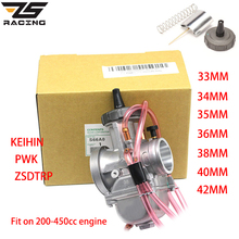 ZS Racing Motorcycle Keihin PWK Carburetor 33 34 35 36 38 40 42mm Racing Carb Universal 2T 4T engine Dirt Bike Scooter ATV Quad