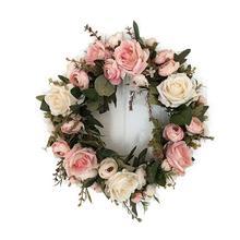 Guirnalda de flores de simulación artificial clásica Adeeing para el jardín de la habitación del hogar, adorno de dintel